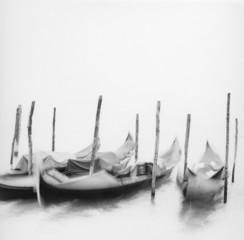 """""""Moored gondolas, Venice, Italy"""""""