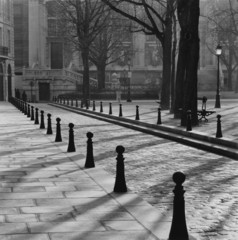 """Cobblestone lane, Place Dauphine, Paris, France"""