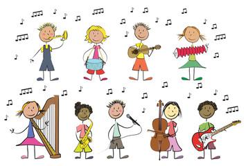 9 enfants musique 2
