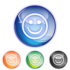 Picto smiley content - collection color