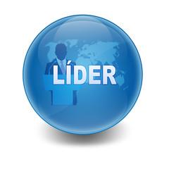 """Esfera brillante con texto """"LIDER"""""""