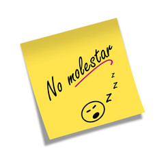 Post-it NO MOLESTAR