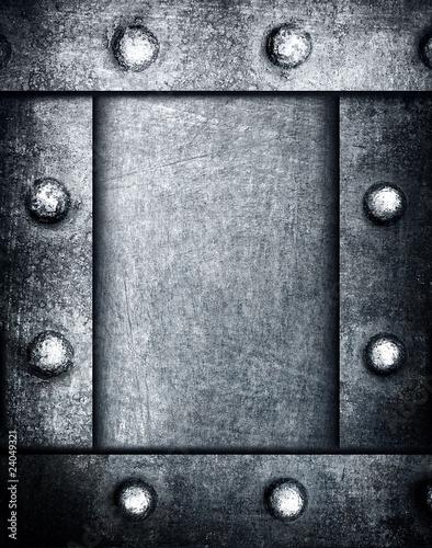 Fototapeta grunge metal frame background