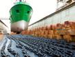 Leinwanddruck Bild - Ship and dock