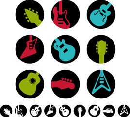 Guitar icons and white versions