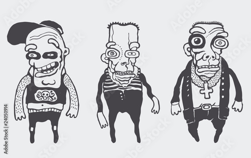 funny personages set