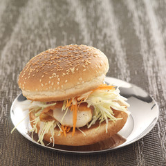 british coleslaw burger