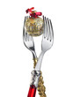 two forks with christmas decoration