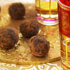 chocolate and dried fruit truffles