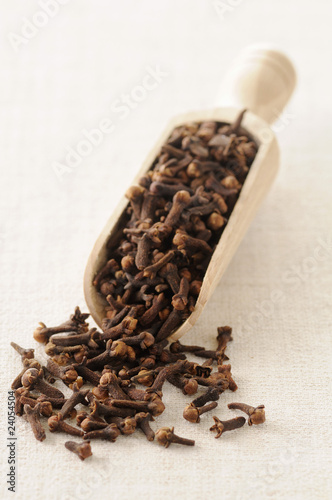 wooden scoopful of cloves