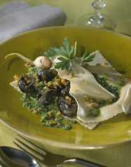 snail raviolis