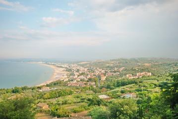 paesaggio sulla costa