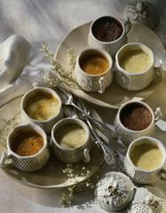 traditional small cream desserts