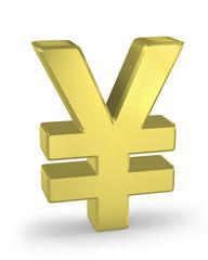 Golden yen sign