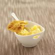 piña colada bavarian cream dessert