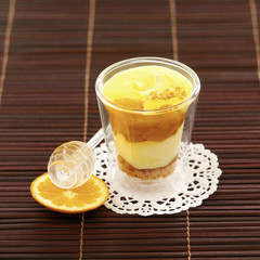 mandarins roasted in honey tiramisu