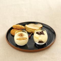 bergamot and macaroon tiramisu ,pear tiramisu