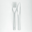 knife and fork on a white background