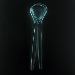 salad cutlery on a black background