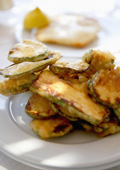 deep-fried zucchinis