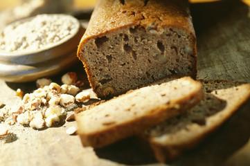 chestnut flour and walnut cake