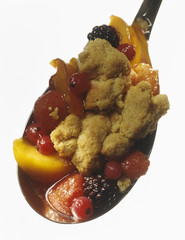 spoonful of fruit crumble