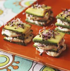 zucchini and tarama layers