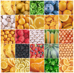 25 collection of fruit and vegetable backgrounds