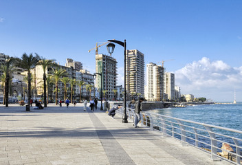The Corniche along Beirut's seafront, Lebanon