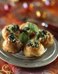snails in puff pastry