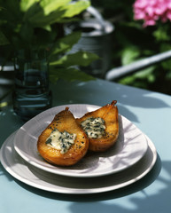 pear roasted with roquefort