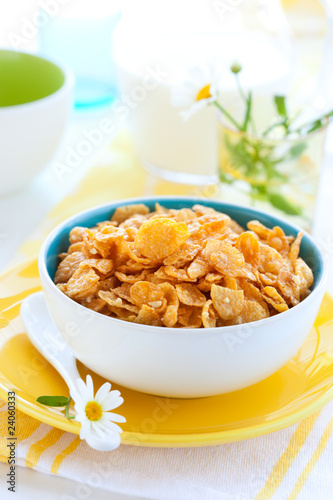 corn flakes  and milk