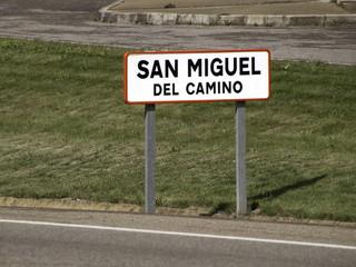 San Miguel sign on Camino de Santiago