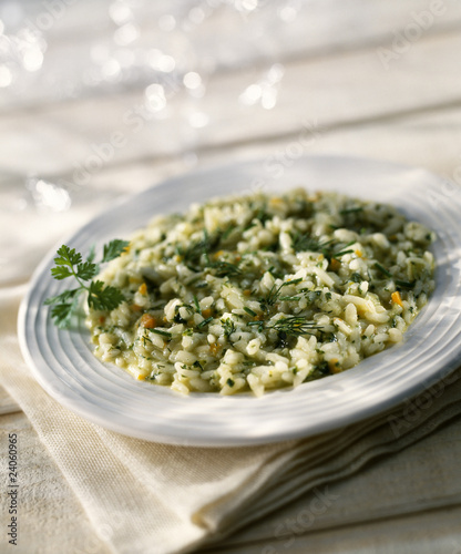fresh herb risotto