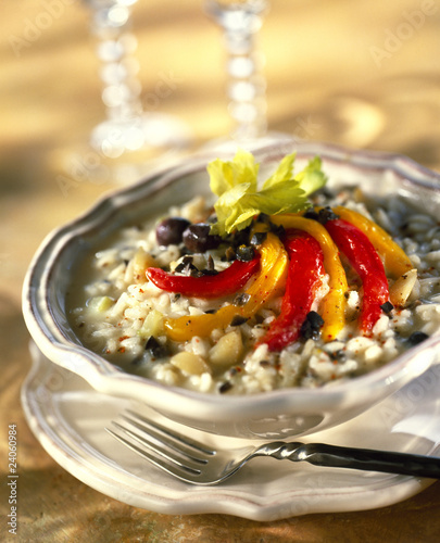 pepper and olive risotto