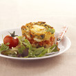 tomato and goat's cheese pudding