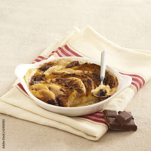 milk chocolate and pear gratin