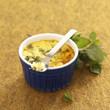 zucchini and mint flan