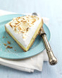 portion of lemon meringue pie