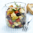 vegetable and reblochon salad