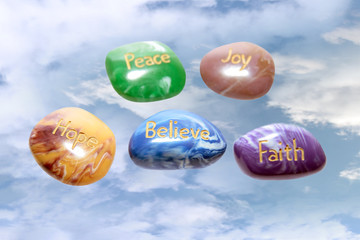 heavenly affirmation stones