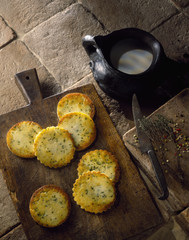 potato cakes with thyme