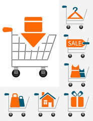 Shopping chart icons