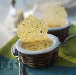 crème brûlée with parmesan