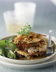 roast pork and traditional mustard mille-feuille