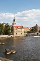 Museo Smetana a Praga visto dal ponte Carlo
