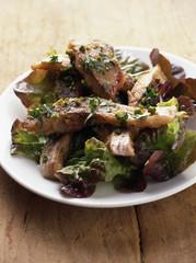 pan-fried carp and pistachio salad
