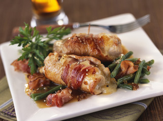 saltimbocca with beer sauce