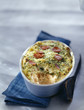 salmon and leek gratin