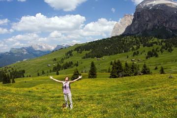 Sulla vetta delle Dolomiti Alpe di Siusi